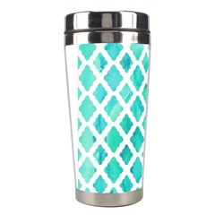 Blue Mosaic Stainless Steel Travel Tumblers by Brittlevirginclothing