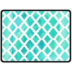 Blue Mosaic Double Sided Fleece Blanket (large)  by Brittlevirginclothing