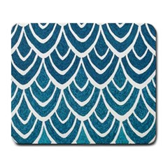 Blue Fish Scale Large Mousepads by Brittlevirginclothing