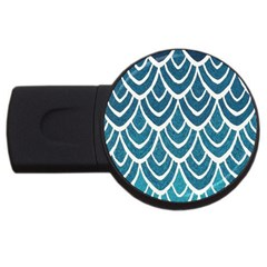 Blue Fish Scale Usb Flash Drive Round (4 Gb) by Brittlevirginclothing