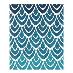 Blue Fish Scale Shower Curtain 60  X 72  (medium)  by Brittlevirginclothing