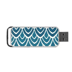 Blue Fish Scale Portable Usb Flash (two Sides) by Brittlevirginclothing