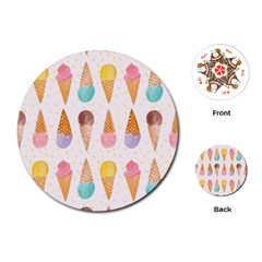 Cute Ice Cream Playing Cards (round)  by Brittlevirginclothing