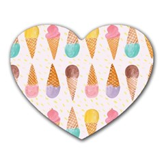 Cute Ice Cream Heart Mousepads by Brittlevirginclothing