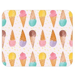 Cute Ice Cream Double Sided Flano Blanket (medium)  by Brittlevirginclothing