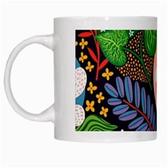 Japanese Inspired White Mugs by Brittlevirginclothing