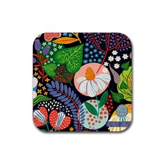 Japanese Inspired Rubber Coaster (square)  by Brittlevirginclothing
