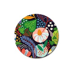 Japanese Inspired Magnet 3  (round) by Brittlevirginclothing