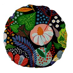 Japanese Inspired Large 18  Premium Flano Round Cushions by Brittlevirginclothing