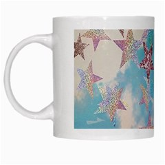 Pastel Stars White Mugs by Brittlevirginclothing