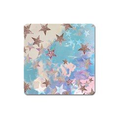 Pastel Stars Square Magnet by Brittlevirginclothing