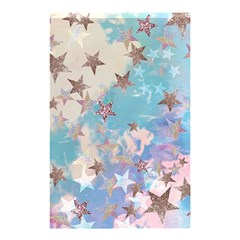 Pastel Stars Shower Curtain 48  X 72  (small)  by Brittlevirginclothing