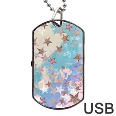 Pastel Stars Dog Tag Usb Flash (two Sides) by Brittlevirginclothing