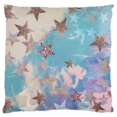 Pastel Stars Large Cushion Case (two Sides) by Brittlevirginclothing