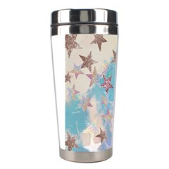 Pastel Stars Stainless Steel Travel Tumblers by Brittlevirginclothing
