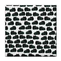 Black Cat Tile Coasters by Brittlevirginclothing