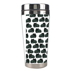 Black Cat Stainless Steel Travel Tumblers by Brittlevirginclothing