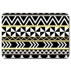 Black Bohemian Large Doormat  by Brittlevirginclothing
