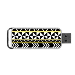Black Bohemian Portable Usb Flash (two Sides) by Brittlevirginclothing