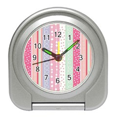 Pink Wood Travel Alarm Clocks by Brittlevirginclothing