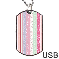 Pink Wood Dog Tag Usb Flash (two Sides) by Brittlevirginclothing