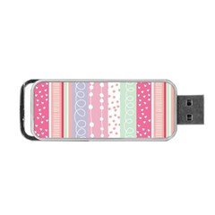 Pink Wood Portable Usb Flash (two Sides) by Brittlevirginclothing