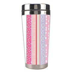 Pink Wood Stainless Steel Travel Tumblers by Brittlevirginclothing