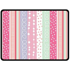 Pink Wood Double Sided Fleece Blanket (large)  by Brittlevirginclothing