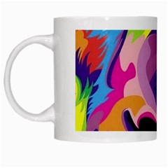 Colorful Lion White Mugs by Brittlevirginclothing