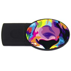 Colorful Lion Usb Flash Drive Oval (4 Gb) by Brittlevirginclothing