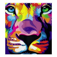 Colorful Lion Shower Curtain 66  X 72  (large)  by Brittlevirginclothing