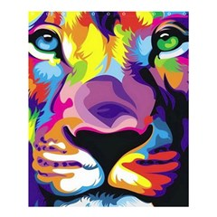 Colorful Lion Shower Curtain 60  X 72  (medium)  by Brittlevirginclothing
