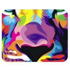 Colorful Lion Double Sided Flano Blanket (medium)  by Brittlevirginclothing