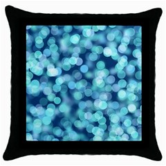 Blue Light Throw Pillow Case (black) by Brittlevirginclothing