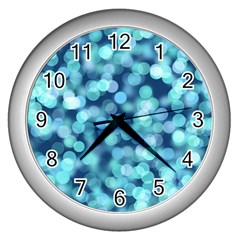 Blue Light Wall Clocks (silver)  by Brittlevirginclothing
