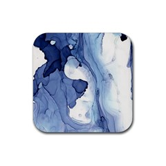 Paint In Water Rubber Square Coaster (4 Pack)  by Brittlevirginclothing