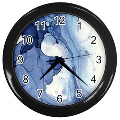 Paint In Water Wall Clocks (black) by Brittlevirginclothing