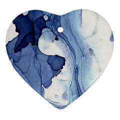 Paint In Water Heart Ornament (two Sides) by Brittlevirginclothing