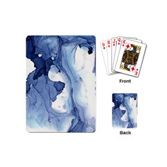 Paint In Water Playing Cards (mini)  by Brittlevirginclothing