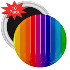 Faded Rainbow  3  Magnets (10 Pack)  by Brittlevirginclothing