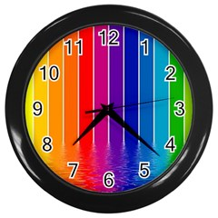 Faded Rainbow  Wall Clocks (black) by Brittlevirginclothing