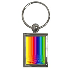 Faded Rainbow  Key Chains (rectangle)  by Brittlevirginclothing