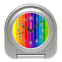 Faded Rainbow  Travel Alarm Clocks by Brittlevirginclothing
