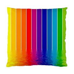 Faded Rainbow  Standard Cushion Case (one Side) by Brittlevirginclothing