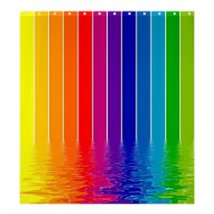 Faded Rainbow  Shower Curtain 66  X 72  (large)  by Brittlevirginclothing