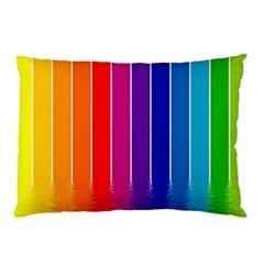 Faded Rainbow  Pillow Case (two Sides) by Brittlevirginclothing