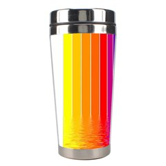 Faded Rainbow  Stainless Steel Travel Tumblers by Brittlevirginclothing