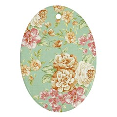 Vintage Pastel Flower Ornament (oval) by Brittlevirginclothing