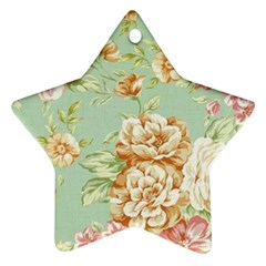 Vintage Pastel Flower Star Ornament (two Sides) by Brittlevirginclothing