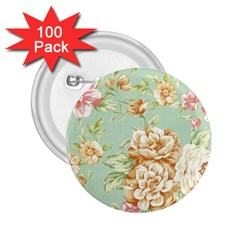 Vintage Pastel Flower 2 25  Buttons (100 Pack)  by Brittlevirginclothing